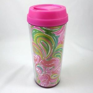 Lilly Pulitzer All Nighter Tumbler Pink Flamingos